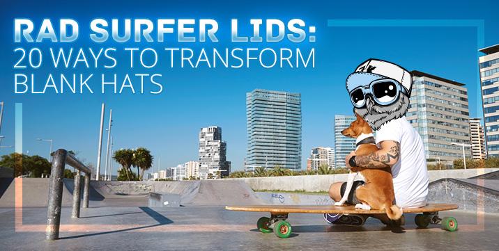 Rad surfer lids transform blank hats