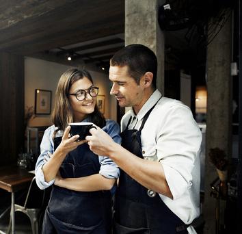 Barista Partner Working Coffee Shop