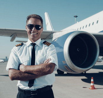 pilot in uniform