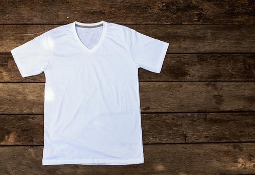 white t shirt v neck