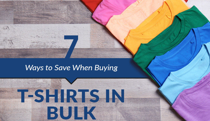 ways to save ordering t-shirts in bulk