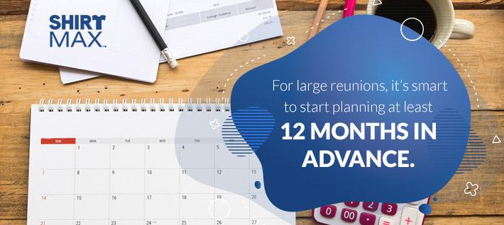 Plan 12 months in advance