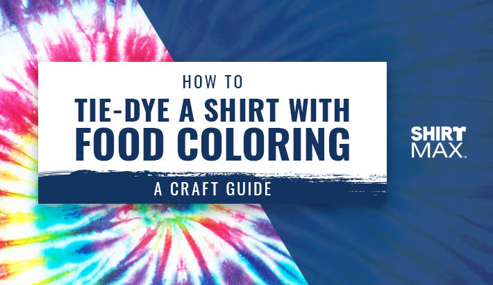 how to tie dye shirt food coloring craft guide
