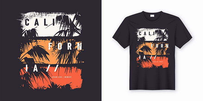 California Ocean side stylish t-shirt